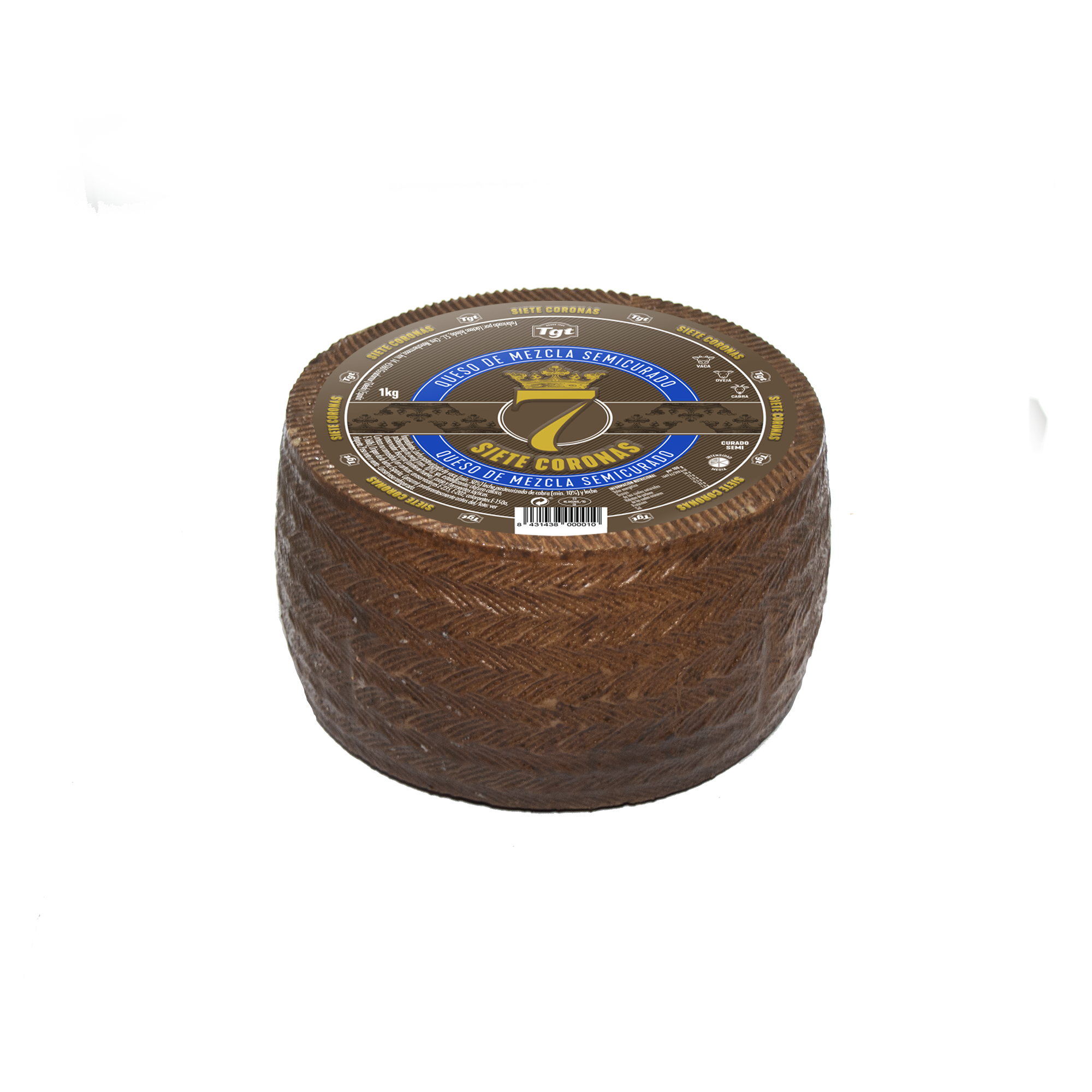 7 Coronas Semicurado Mezcla Mini