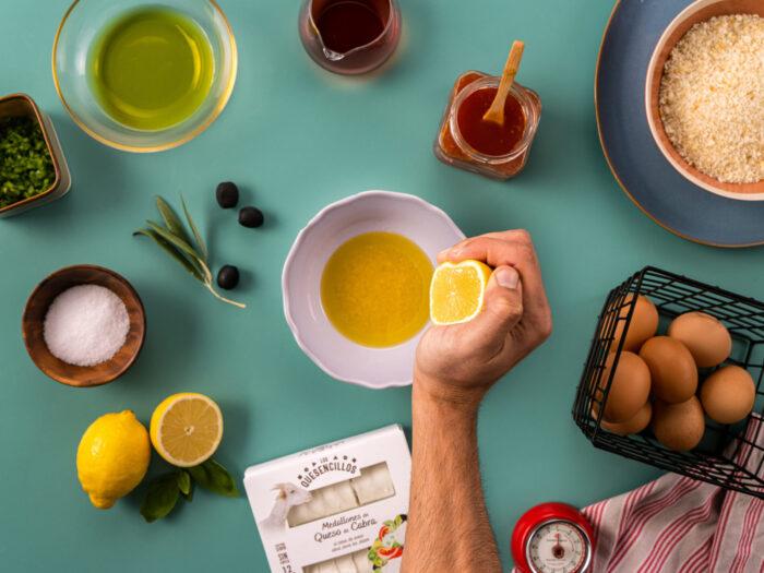 Preparar la ensalada y la vinagreta
