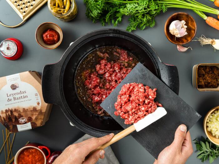 Preparar las verduras y la carne