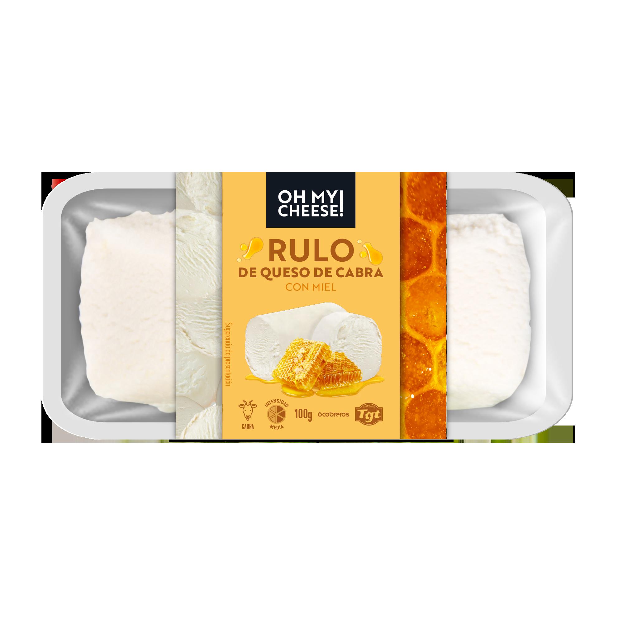 Rulo de queso de cabra con miel