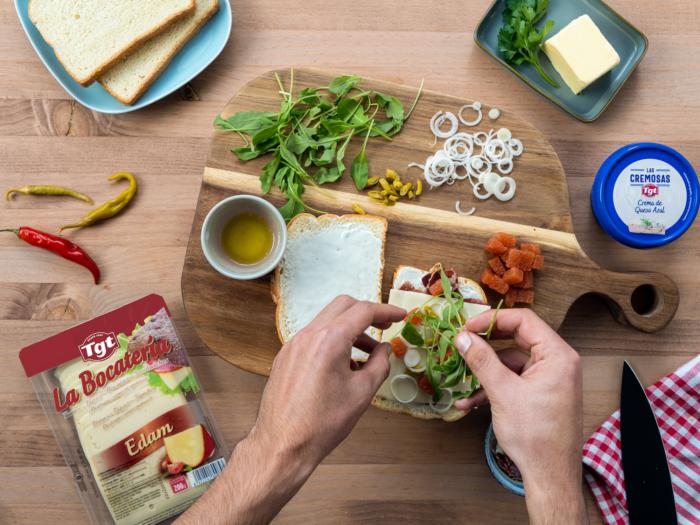 Rellenar el sándwich
