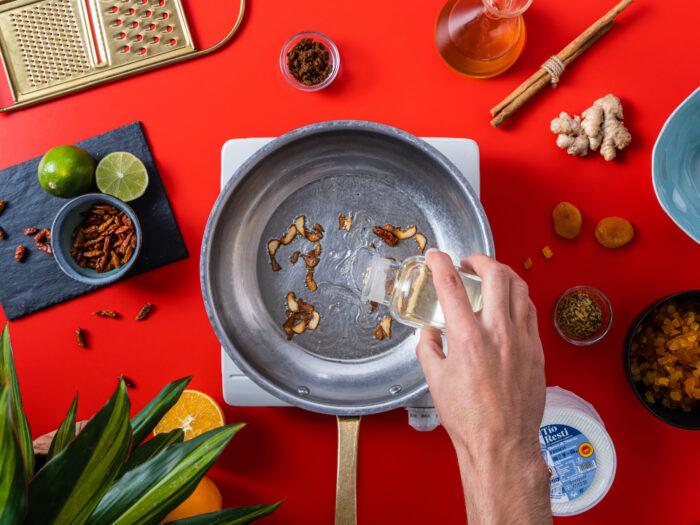 Freír los ingredientes
